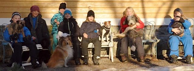 Barn med hund-kurser hos Glada Jyckar
